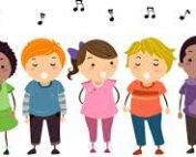 Choir group singing