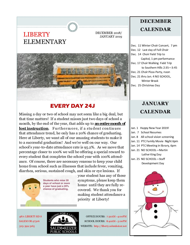 December 2018/January 2019 Liberty Newsletter