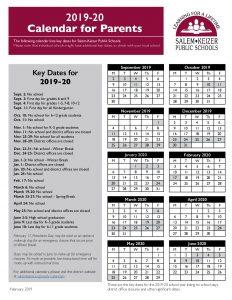 2019 - 20 District Calendar