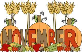 pumpkins and cornstalks
